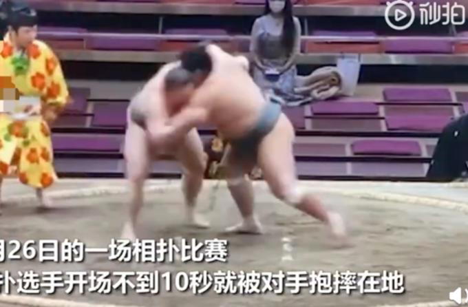日本相扑选手10秒被撂倒头砸地致死