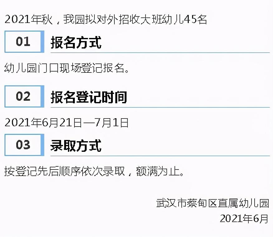 武汉7区13所幼儿园招生通知来了